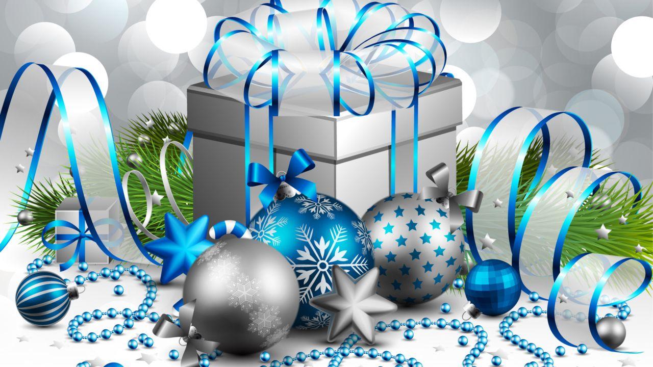 Картинка в серебристых цветах на рождество - C Рождеством Христовым поздравительные картинки