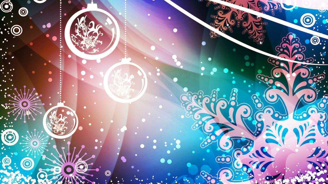 Разноцветная картинка декораций на рождество - C Рождеством Христовым поздравительные картинки