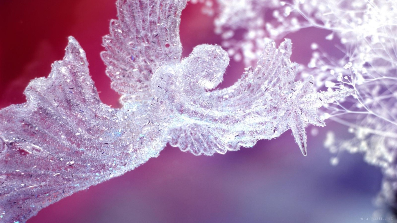Хрустальный ангел на День Влюбленных 14 февраля - С днем Святого Валентина поздравительные картинки