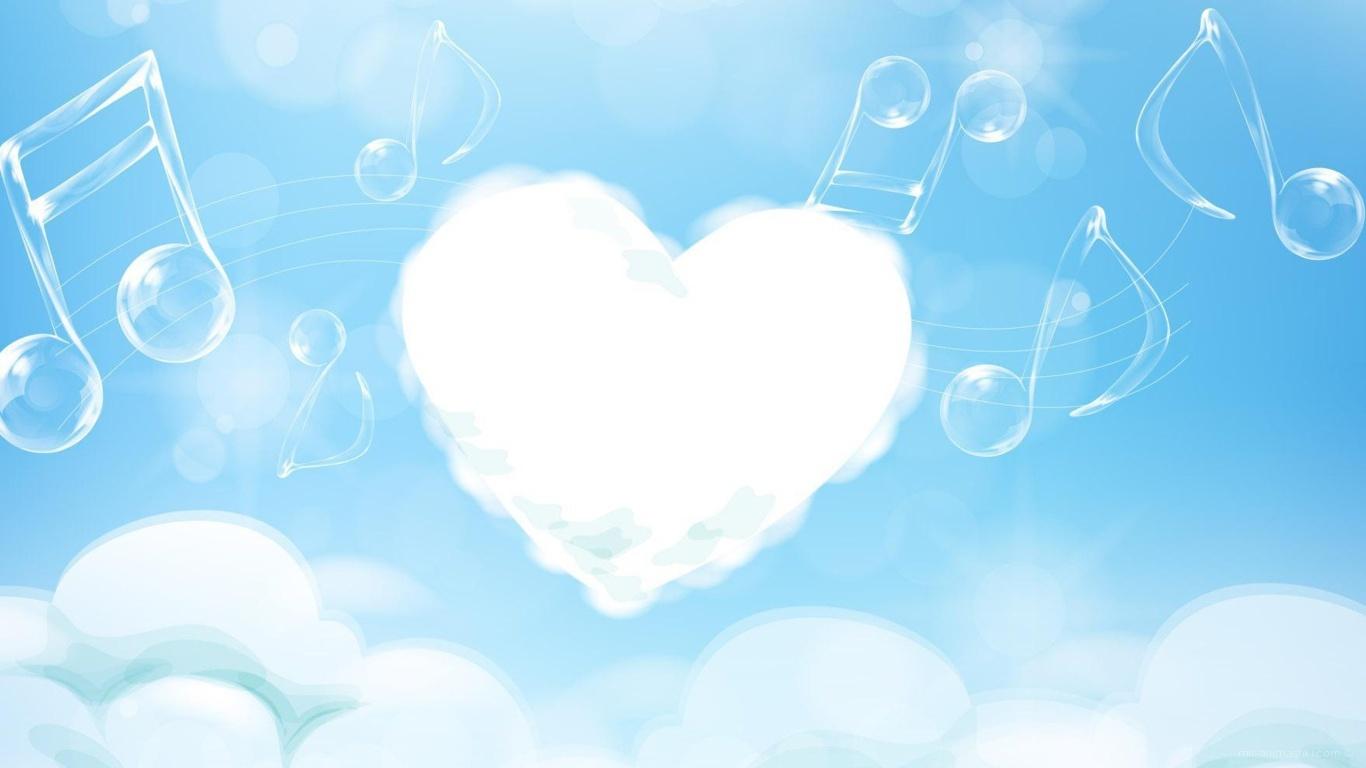 Облачное сердце на День Влюбленных 14 февраля - С днем Святого Валентина поздравительные картинки