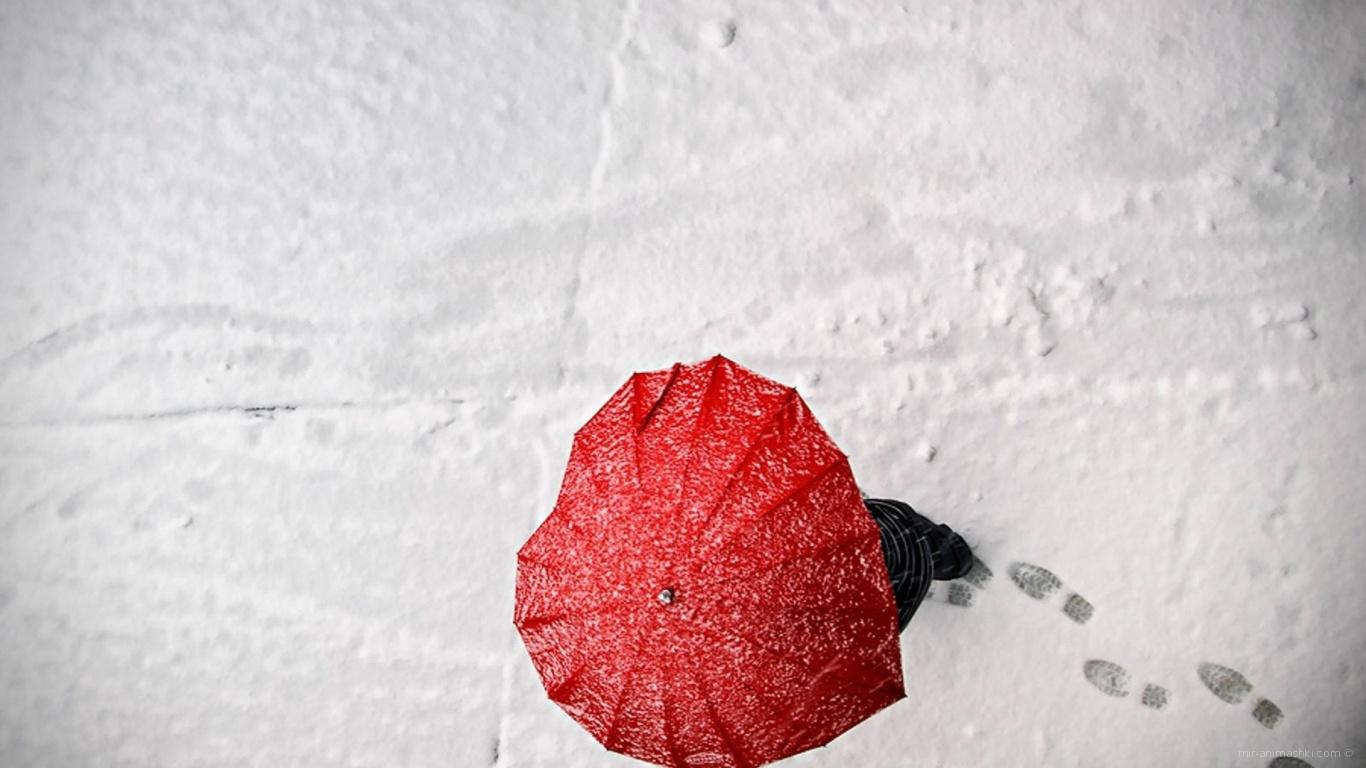 Зонт в форме сердца на День Святого Валентина 14 февраля - С днем Святого Валентина поздравительные картинки