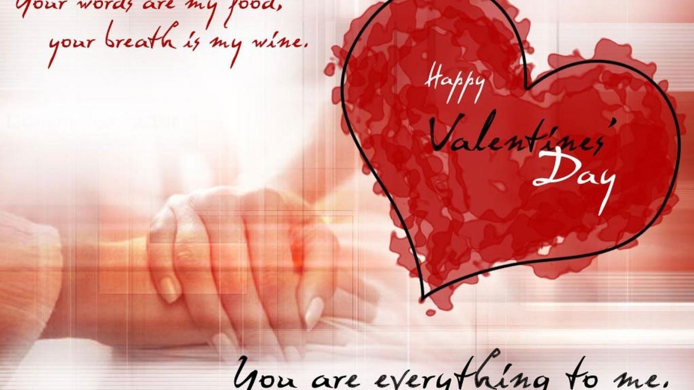 Открытка с пожеланиями на День Святого Валентина 14 февраля - С днем Святого Валентина поздравительные картинки