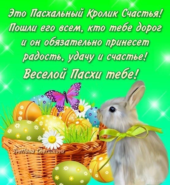 Это пасхальный кролик счастья - C Пасхой поздравительные картинки