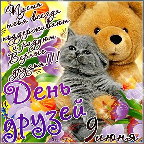 Пожелания другу на день друзей - Поздравления к  праздникам поздравительные картинки