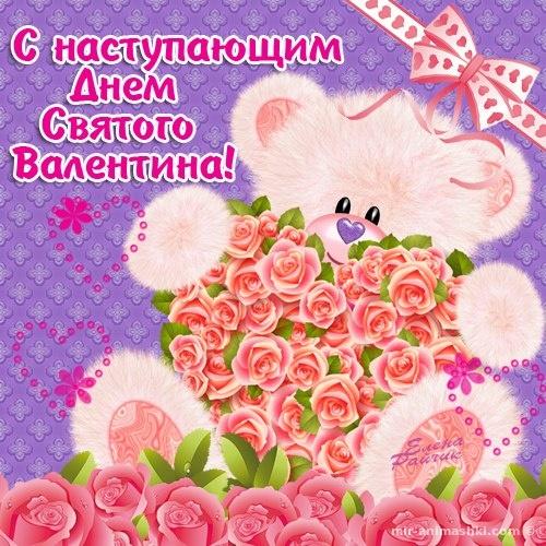 Прикольные открытки любимой девушке с Днем Валентина - С днем Святого Валентина поздравительные картинки