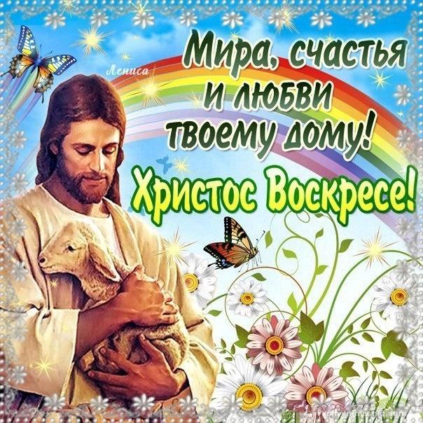Открытка Христос воскресе - C Пасхой поздравительные картинки
