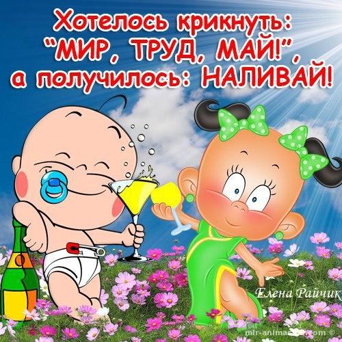 Веселые открытки ко дню 1 мая - Поздравления с 1 мая поздравительные картинки