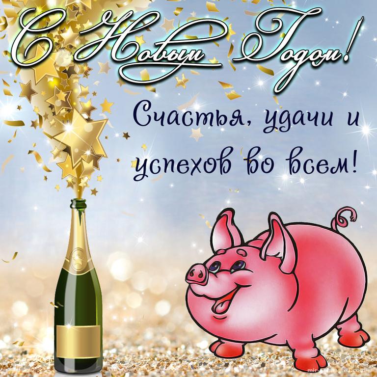Новогодняя картинка с свинкой - C Новым годом 2020 поздравительные картинки