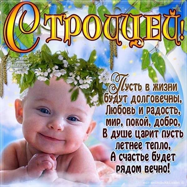 Детские открытки на Троицу - С Троицей поздравительные картинки