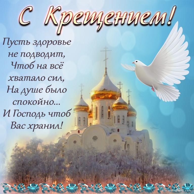 Картинка с белым голубем на Крещение Господне - C Крещение Господне поздравительные картинки