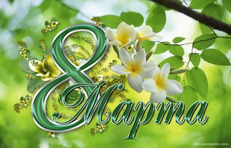 Любимой женщине, цветы, надпись - C 8 марта поздравительные картинки