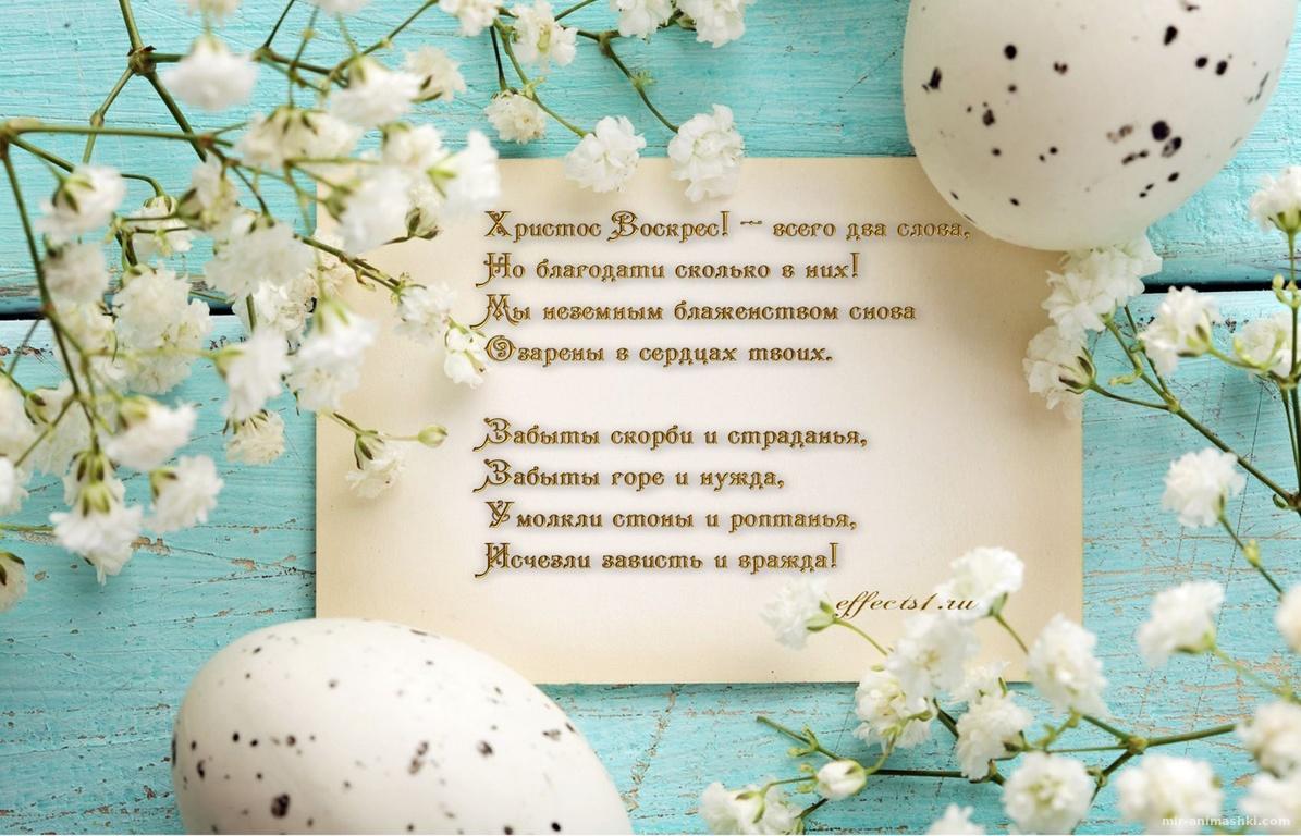 Открытка на Пасху, Христос Воскрес - C Пасхой поздравительные картинки