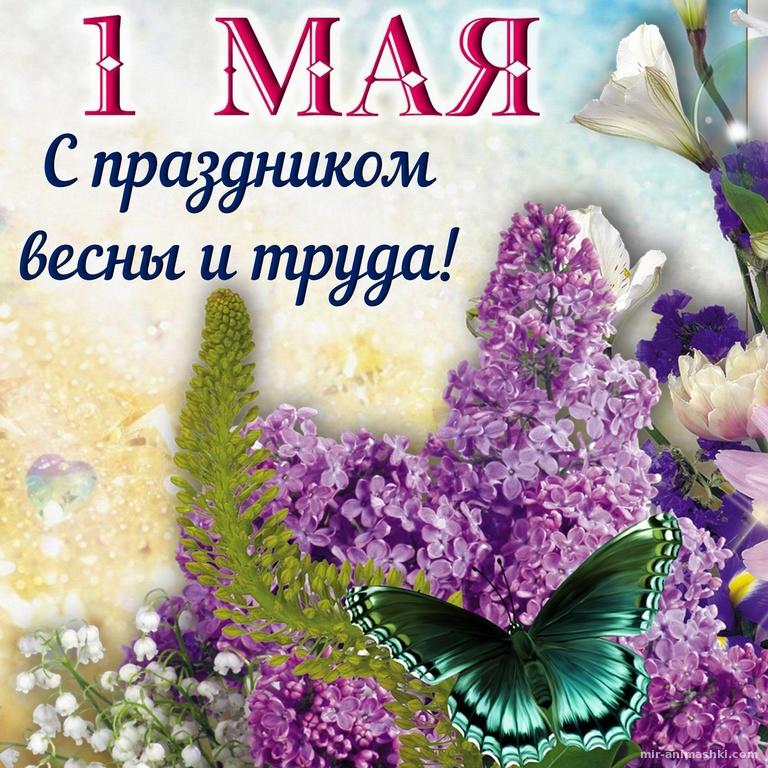 Открытка на первое мая - Поздравления с 1 мая поздравительные картинки