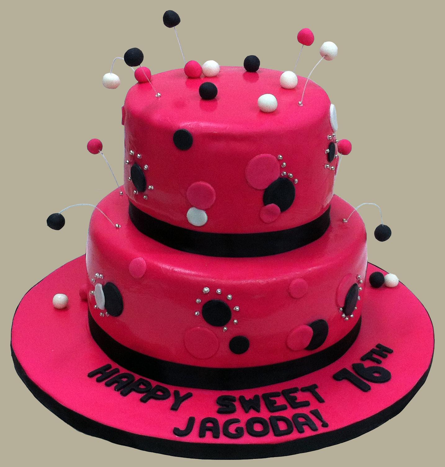 Розовый торт на день рождения - С Днем Рождения поздравительные картинки