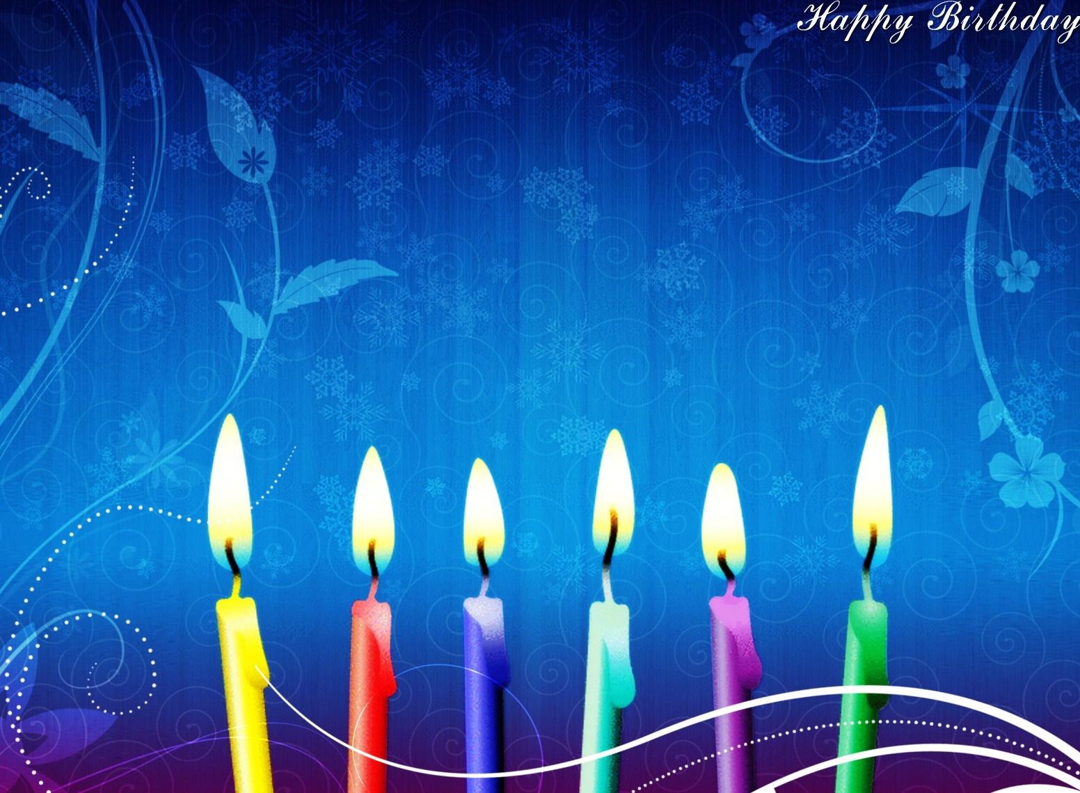 Свечи для днем рождения - С Днем Рождения поздравительные картинки