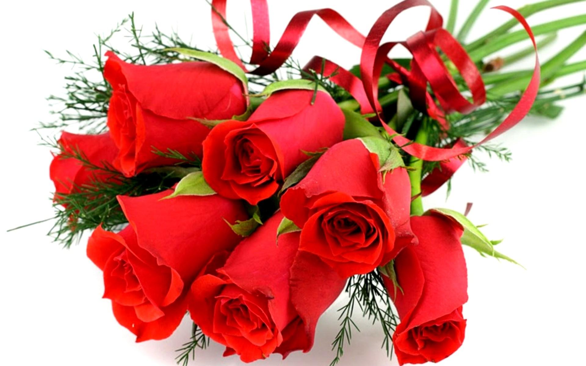 Букетик роз на день рождения - С Днем Рождения поздравительные картинки