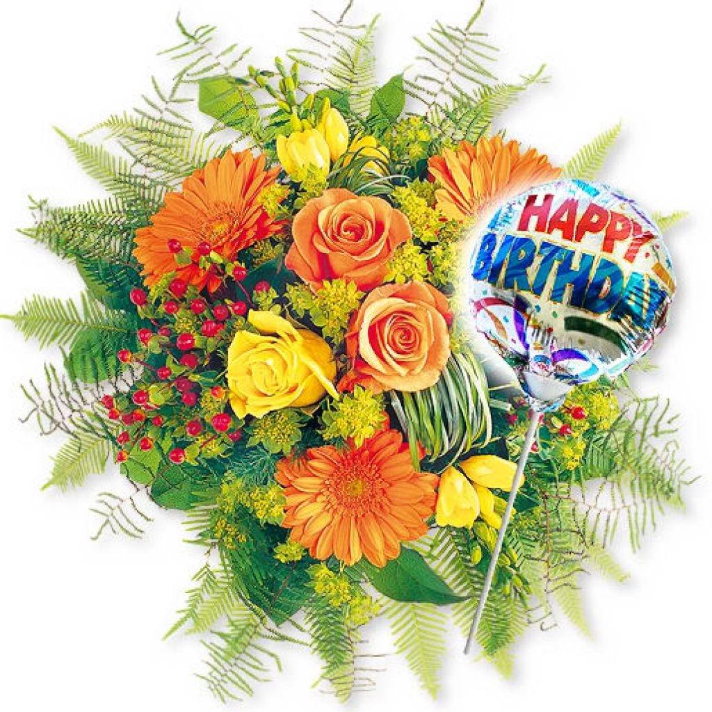 Букет с днем рождения - С Днем Рождения поздравительные картинки