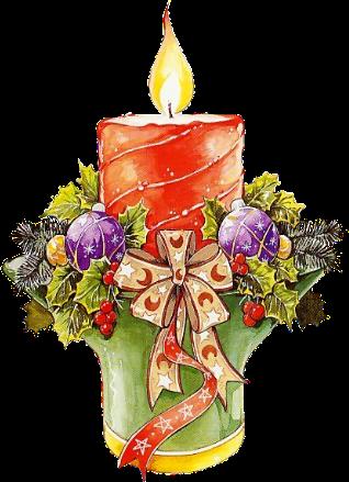 Новогодние свеча картинки - C Новым годом 2021 поздравительные картинки