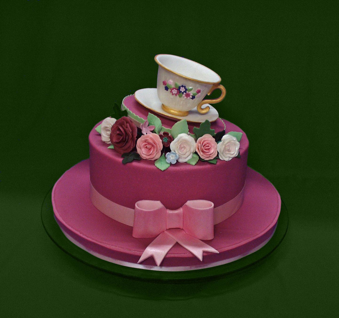 Торт ко дню рождения - С Днем Рождения поздравительные картинки