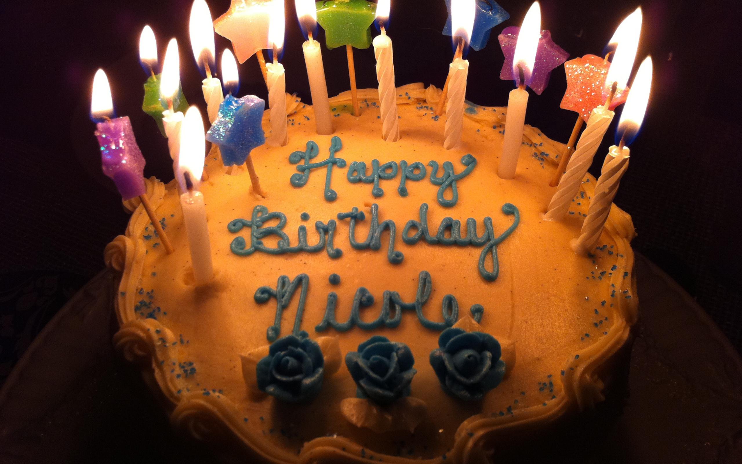 Коричневый торт на день рождения - С Днем Рождения поздравительные картинки