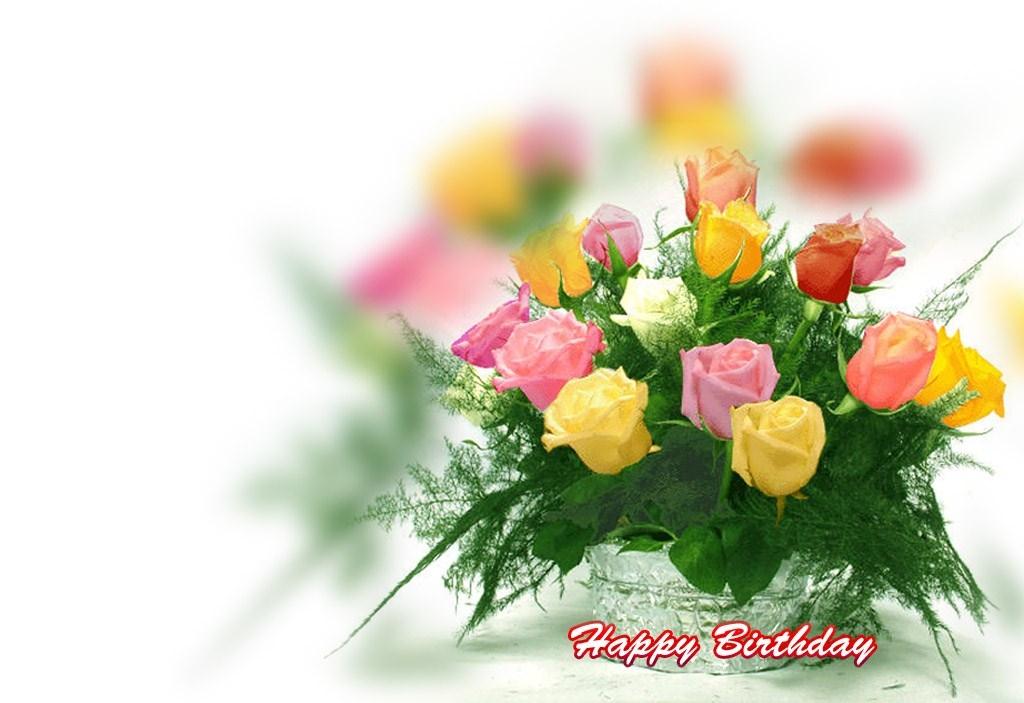 Розы с днем рождения - С Днем Рождения поздравительные картинки