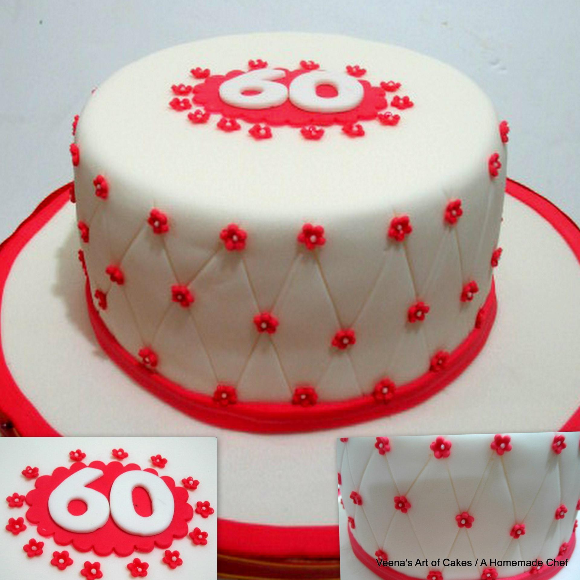 Торт ко дню рождения для 60 юбилея - С Днем Рождения поздравительные картинки