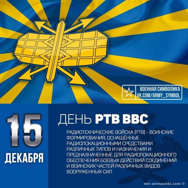Поздравительная открытка на День радиотехнических войск ВВС РФ - 15 декабря 2021