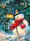 Анимашка снеговик на телефон - Блестяшки на телефон открытки и картинки