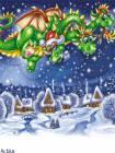 Дракон анимашка - Блестяшки на телефон открытки и картинки
