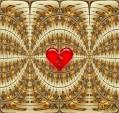 Красное сердце бьется - Открытки Мерцающие гифки