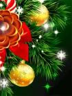 Новогодняя заставка на телефон - Новогодние обои на телефон открытки и картинки