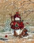 Снеговик - Зима открытки и картинки