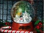 шар со снегом - Зима открытки и картинки