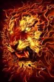 Анимация Огненный тигр - Фото животных открытки и картинки