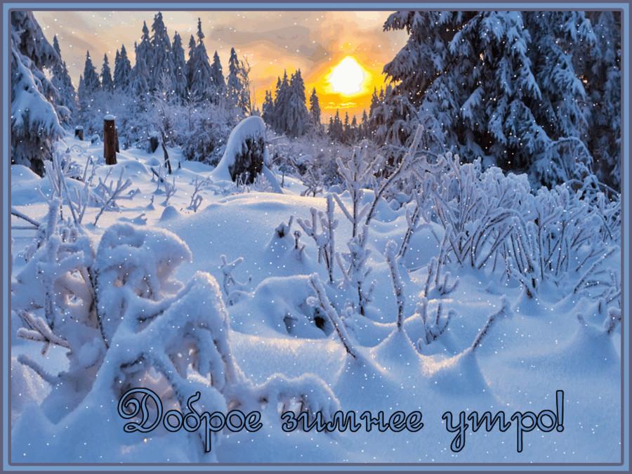 Доброе зимнее утро~Доброе утро