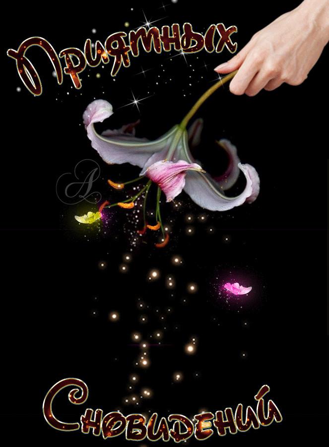 Приятных сновидений~Анимационные блестящие открытки GIF