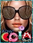 Девушка в очках - Девушки открытки и картинки