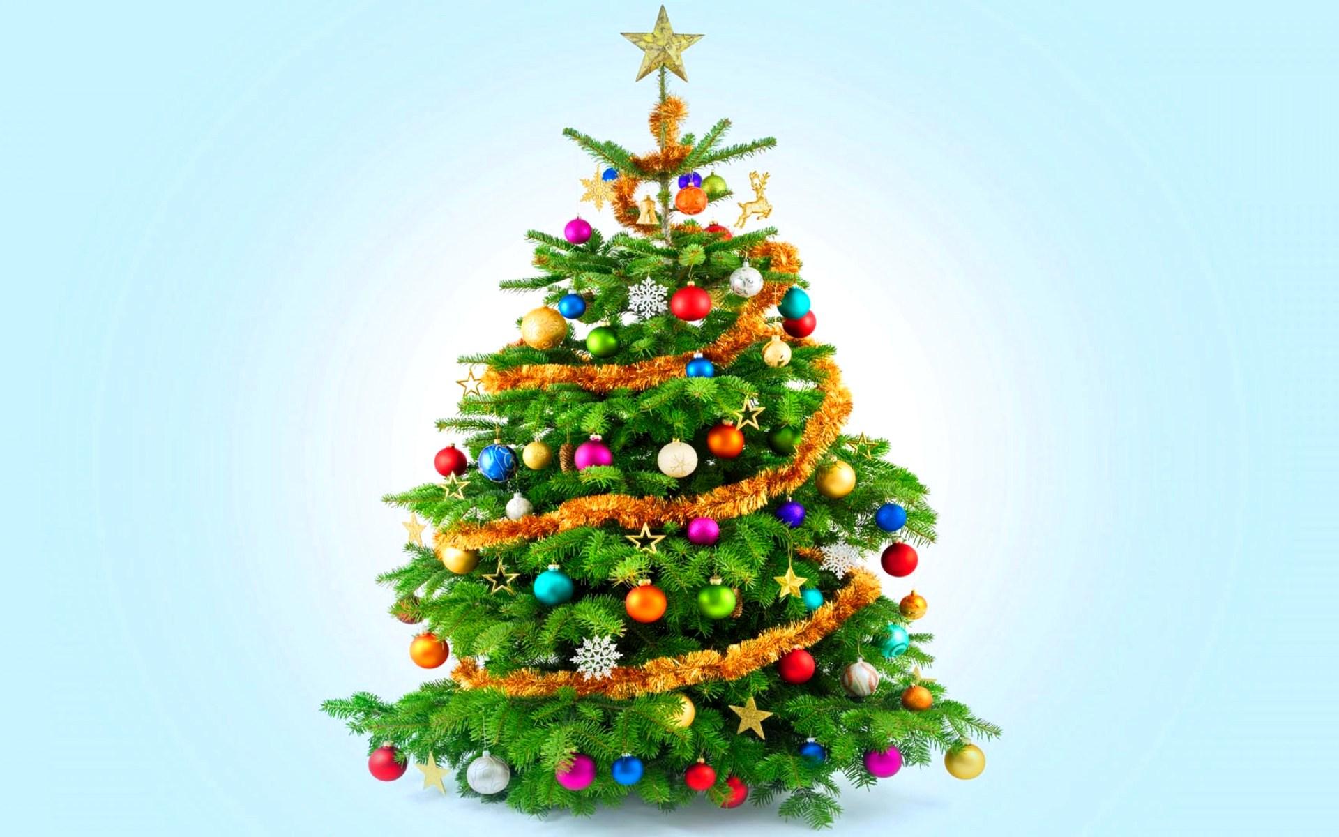 Елка новогодняя - C наступающим новым годом 2017 поздравительные картинки