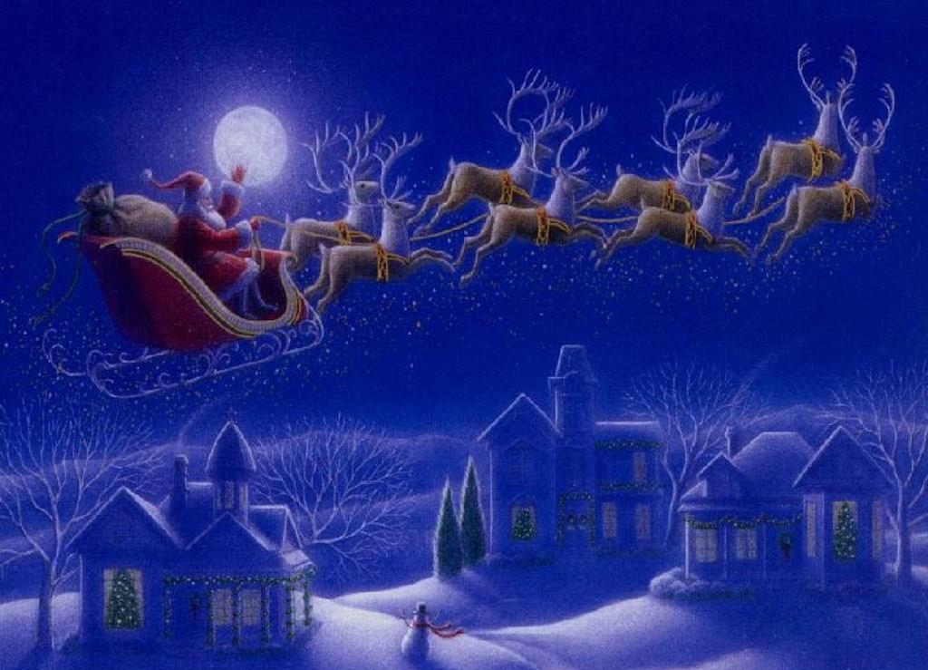 Сказочный Санта Клаус - C наступающим новым годом 2017 поздравительные картинки