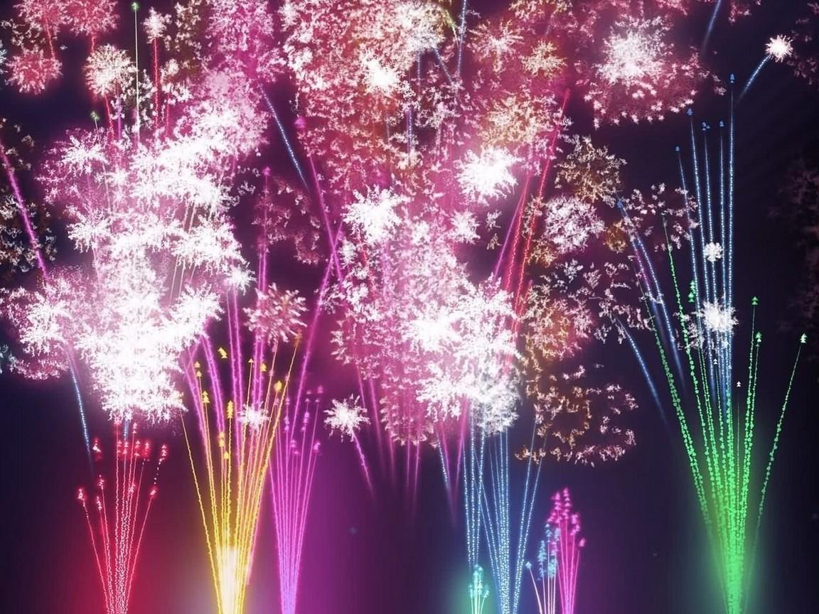 Новогодний фейерверк - C наступающим новым годом 2019 поздравительные картинки
