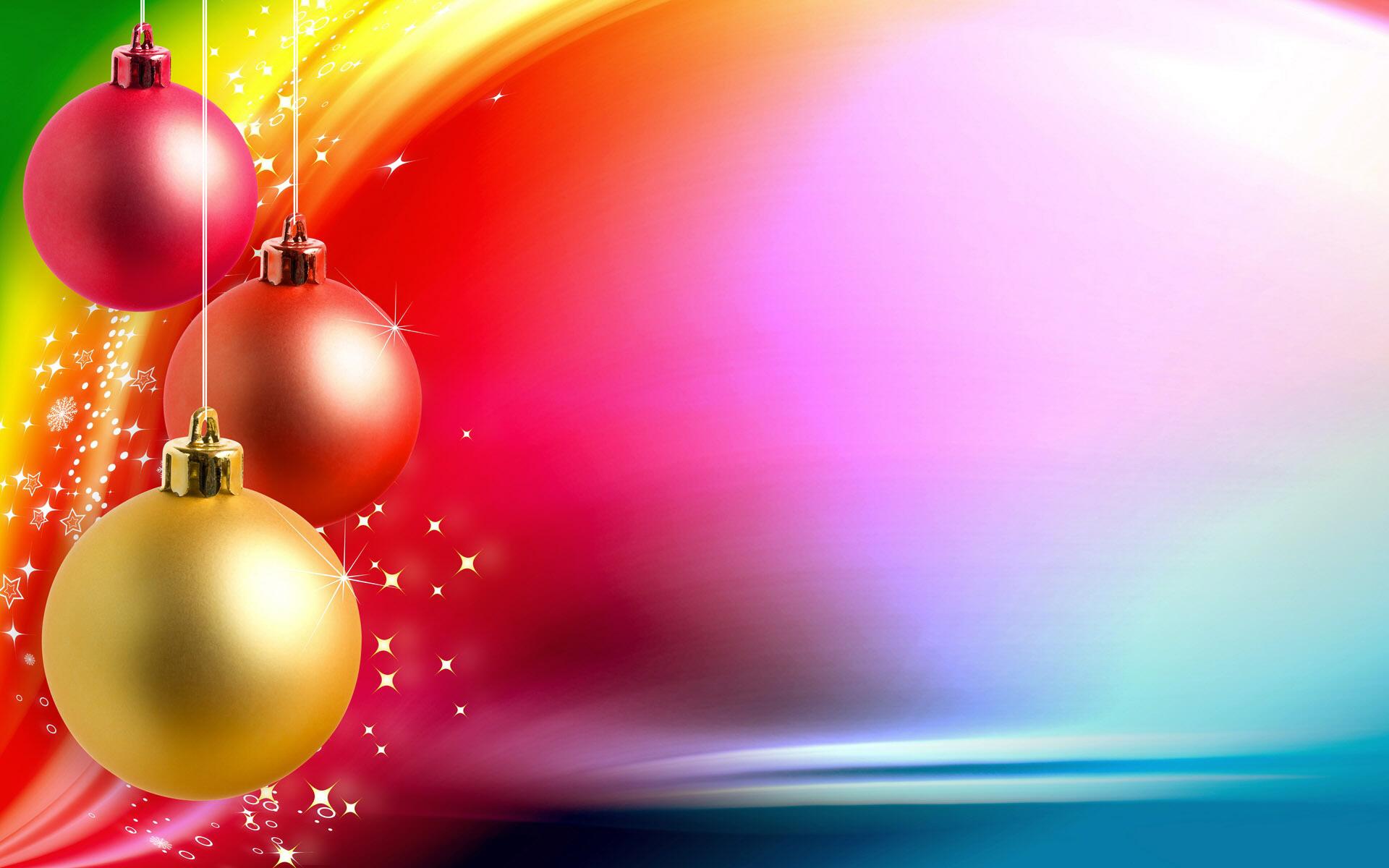 Новогодние шары - C наступающим новым годом 2017 поздравительные картинки