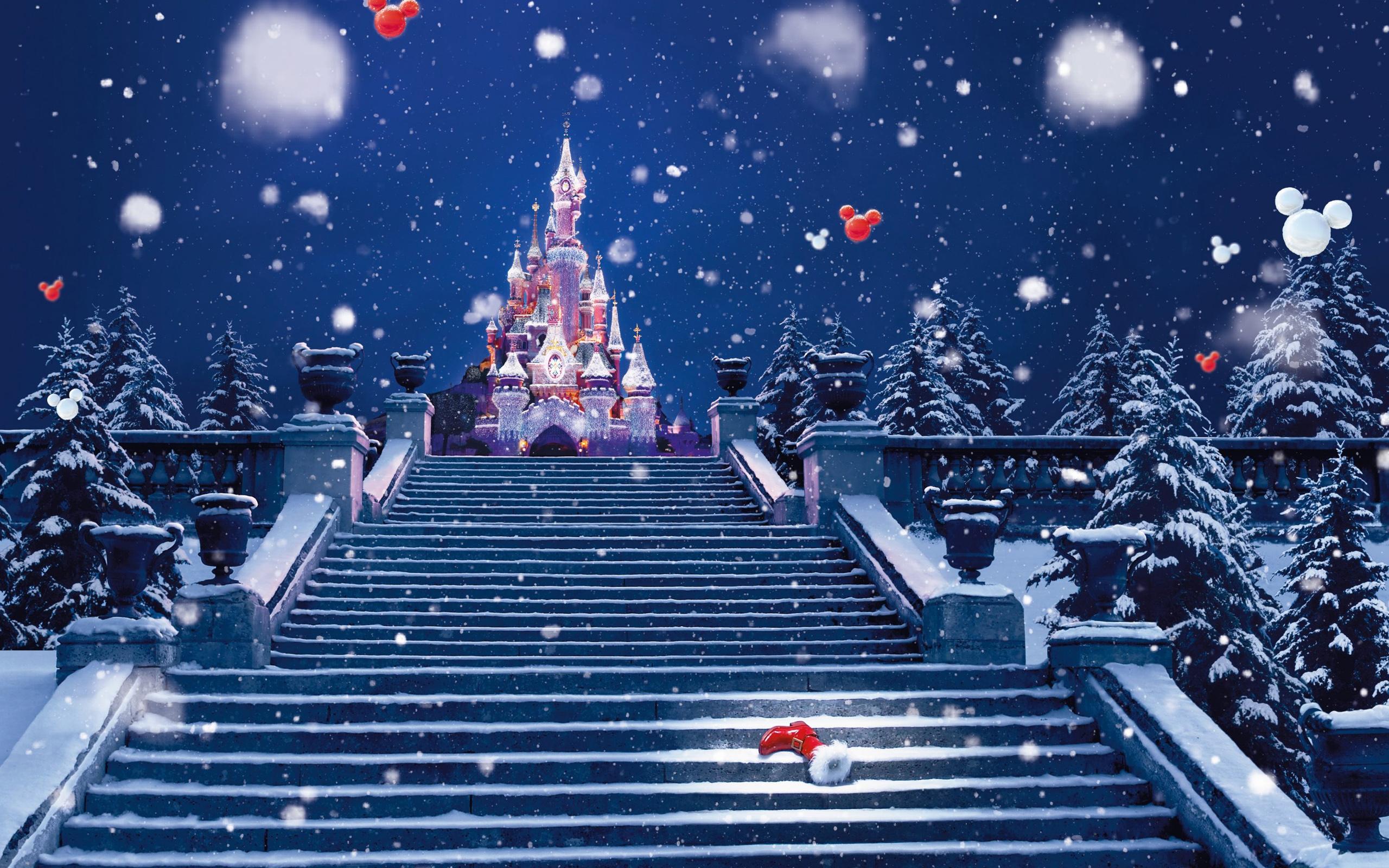 Лестница в диснейленд - C Рождеством Христовым поздравительные картинки