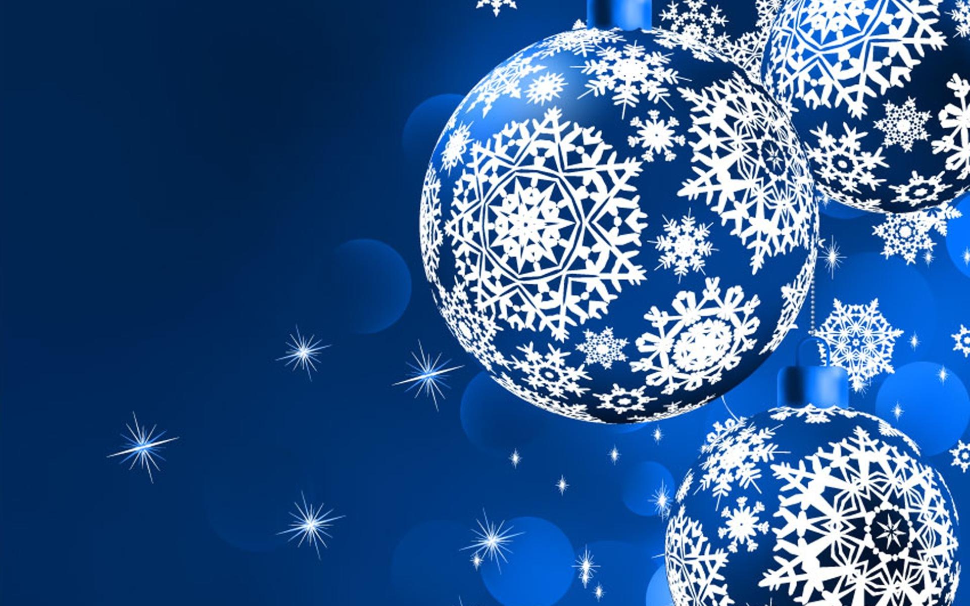 Шары со снежинками - C Рождеством Христовым поздравительные картинки