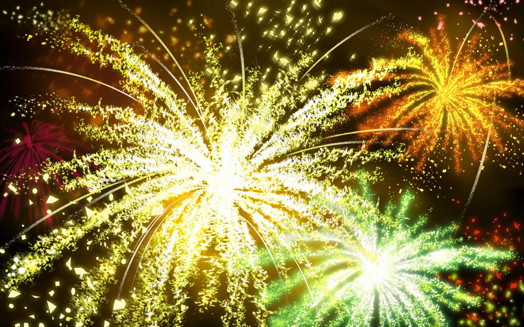 Новогодний фейерверк - C наступающим новым годом 2017 поздравительные картинки