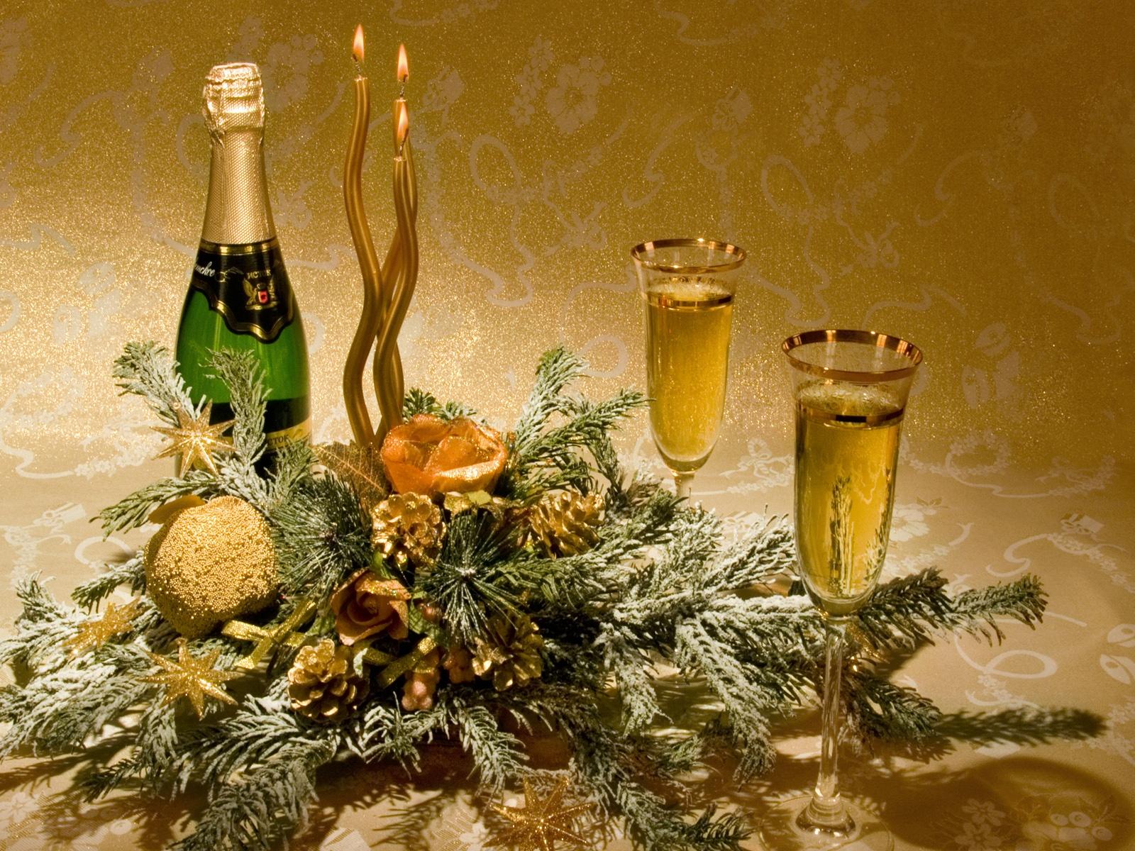 Шампанское с Новым годом - C наступающим новым годом 2017 поздравительные картинки