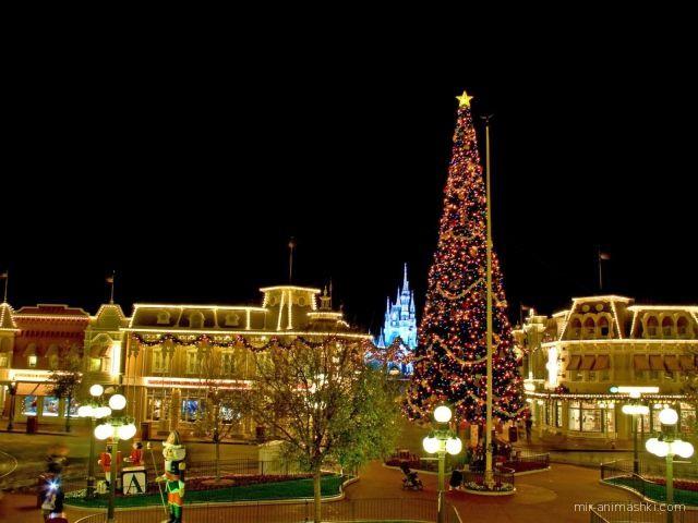 Рождество в Диснейленде - C Рождеством Христовым поздравительные картинки