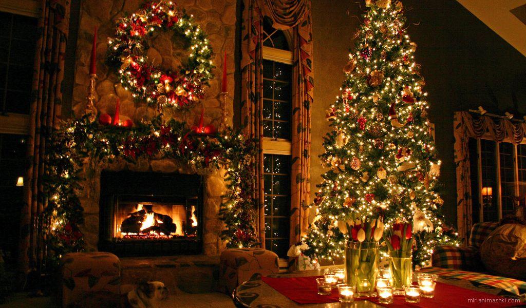 Вечер в канун Рождества - C Рождеством Христовым поздравительные картинки