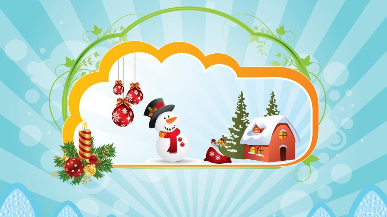 Красивая картинка со счастливым пингвином на рождество - C Рождеством Христовым поздравительные картинки