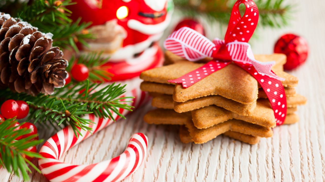 Рождественское печенье - C Рождеством Христовым поздравительные картинки