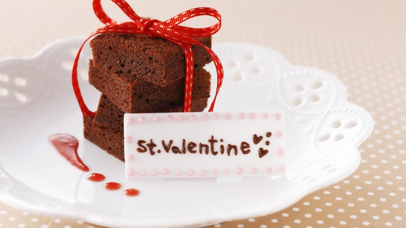 Сладкая валентинка на День Влюбленных 14 февраля - С днем Святого Валентина поздравительные картинки
